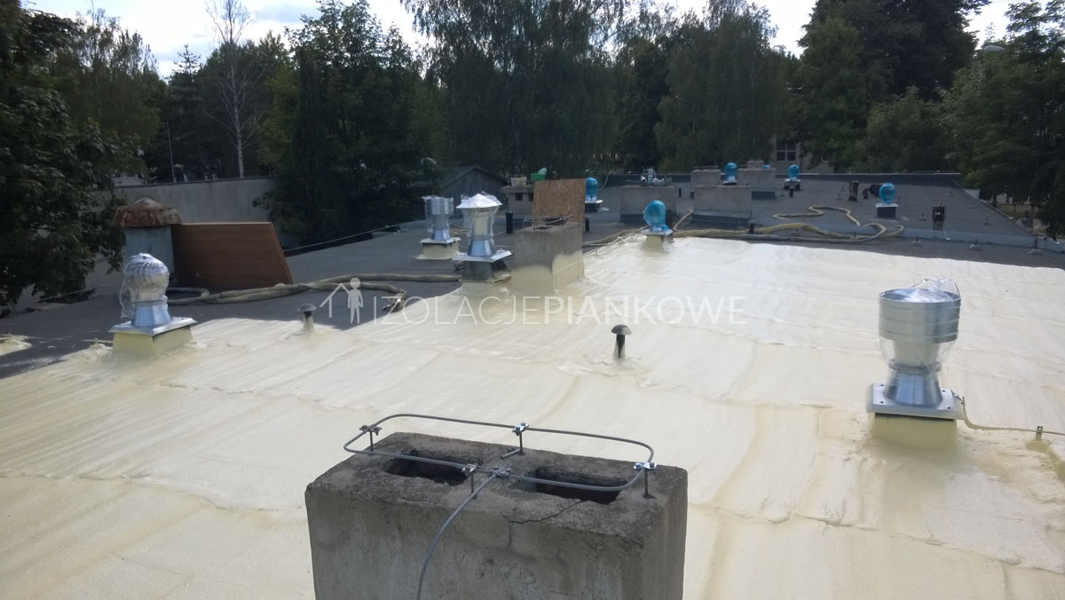 pokrycie dachu pianka